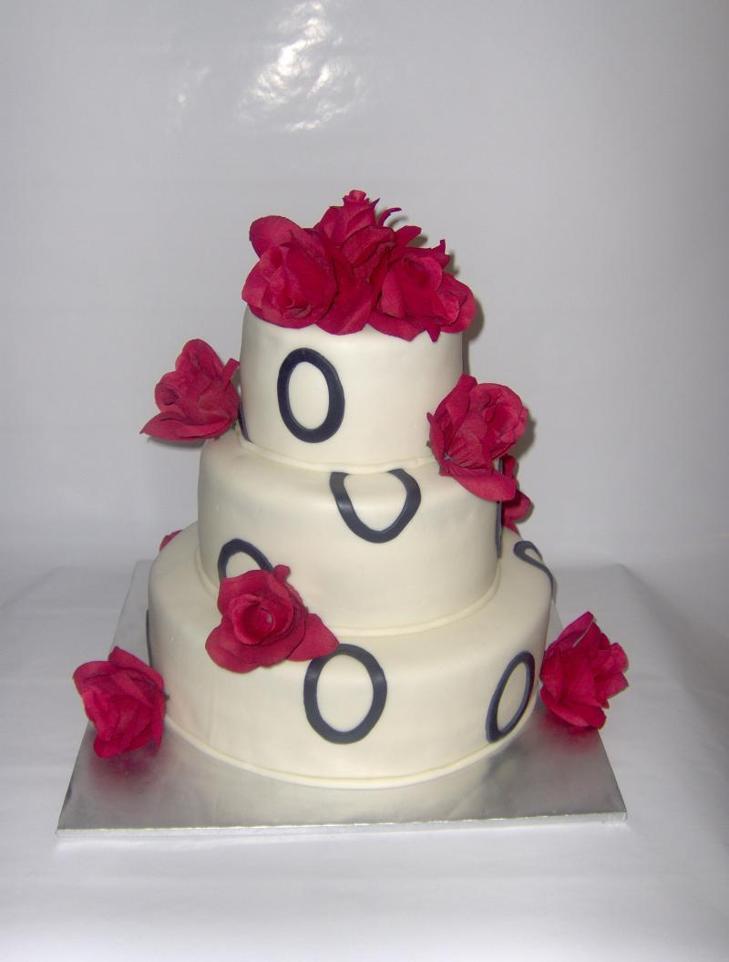 Cakes, cake, Roses, Wedding, With, 3, Tier, Circle, Taste see cakery