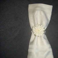 Flowers & Decor, ivory, Flower, Ring, Napkin