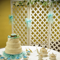 Cakes, yellow, cake, Wedding, Table, Tea, Set, Turquoise