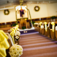 Ceremony, Flowers & Decor, Ceremony Flowers, Aisle Decor, Flowers, Church, Aisle, Pews, Decoration, Pomanders