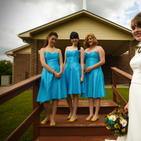 Bridesmaids, Bridesmaids Dresses, Fashion, yellow, Bride, Turquoise