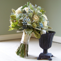 Flowers & Decor, ivory, blue, green, silver, Bride Bouquets, Flowers, Bouquet, Floral verde llc