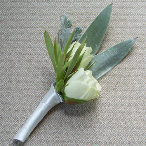 Flowers & Decor, white, green, silver, Boutonnieres, Flowers, Boutonniere, Floral verde llc