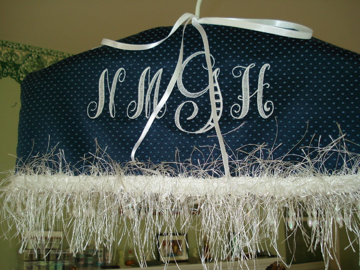 blue, Bride, Wedding, Cover, Something, Twisted sisters stitchery, Hanger, Beads