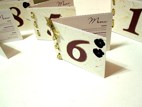 DIY, purple, Menus, Table, Numbers
