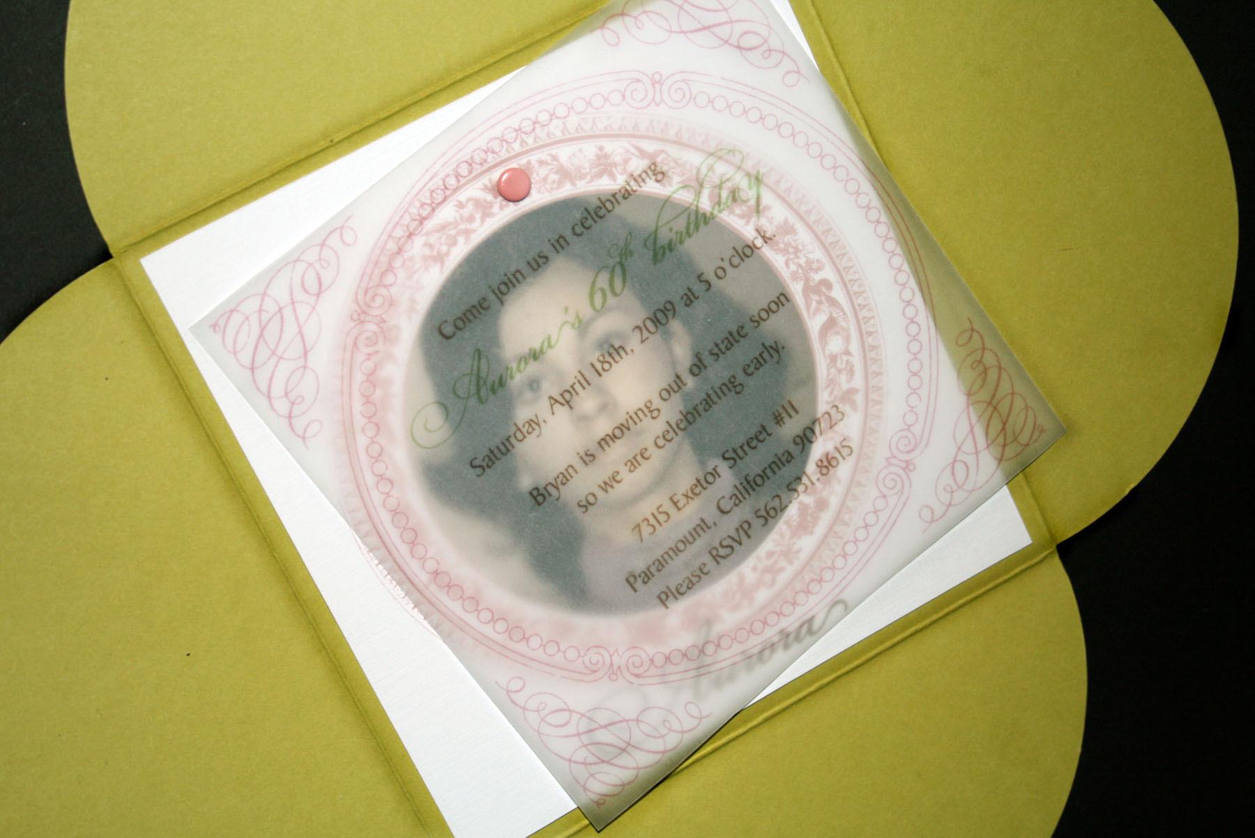 Stationery, Invitations, Birthday, 60th