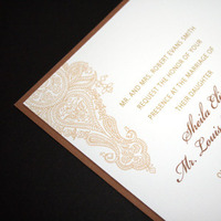 Stationery, Invitations, Save-the-Dates, Rsvp, Indian, Henna, Mehndi, Pattern, Ethnic