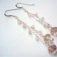Jewelry, Earrings, Bridesmaid, Swarovski, Dangle, Cluster, Jewelrydelicaciesetsycom