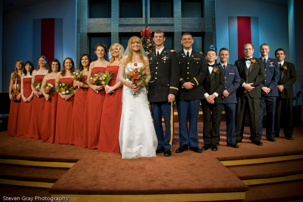Bride, Groom, Wedding, Party, Church, Steven gray photography