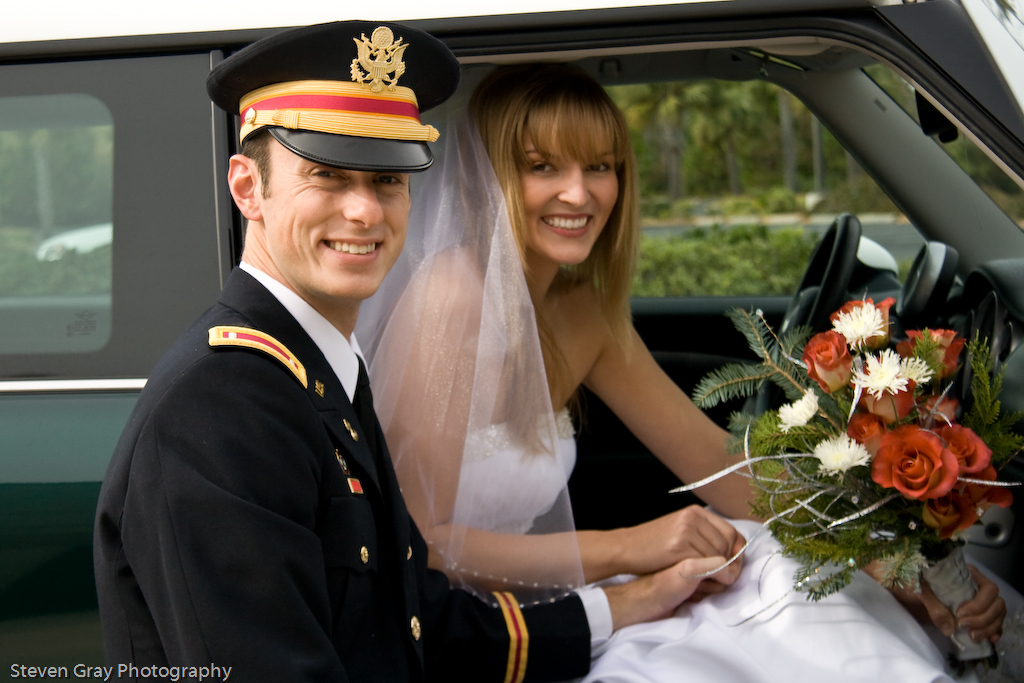 Reception, Flowers & Decor, Bride, Groom, Car, Exit, Departure, Steven gray photography
