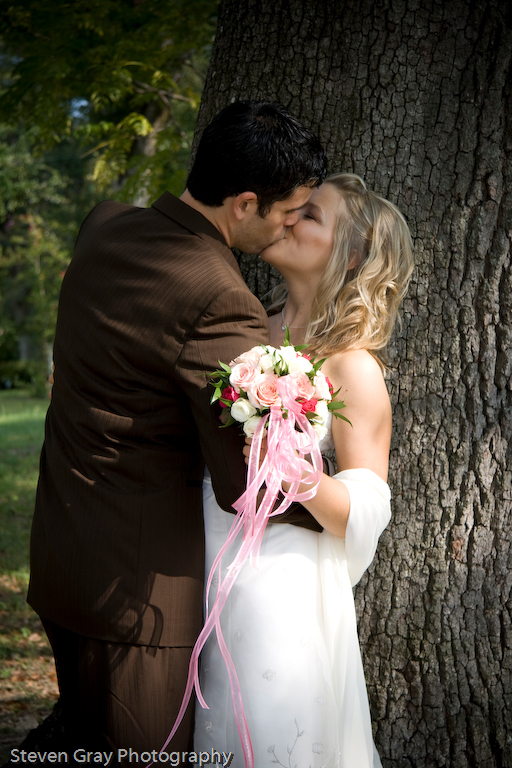Bride, Outdoor, Groom, Kiss, Couple, Outdoors, Steven gray photography