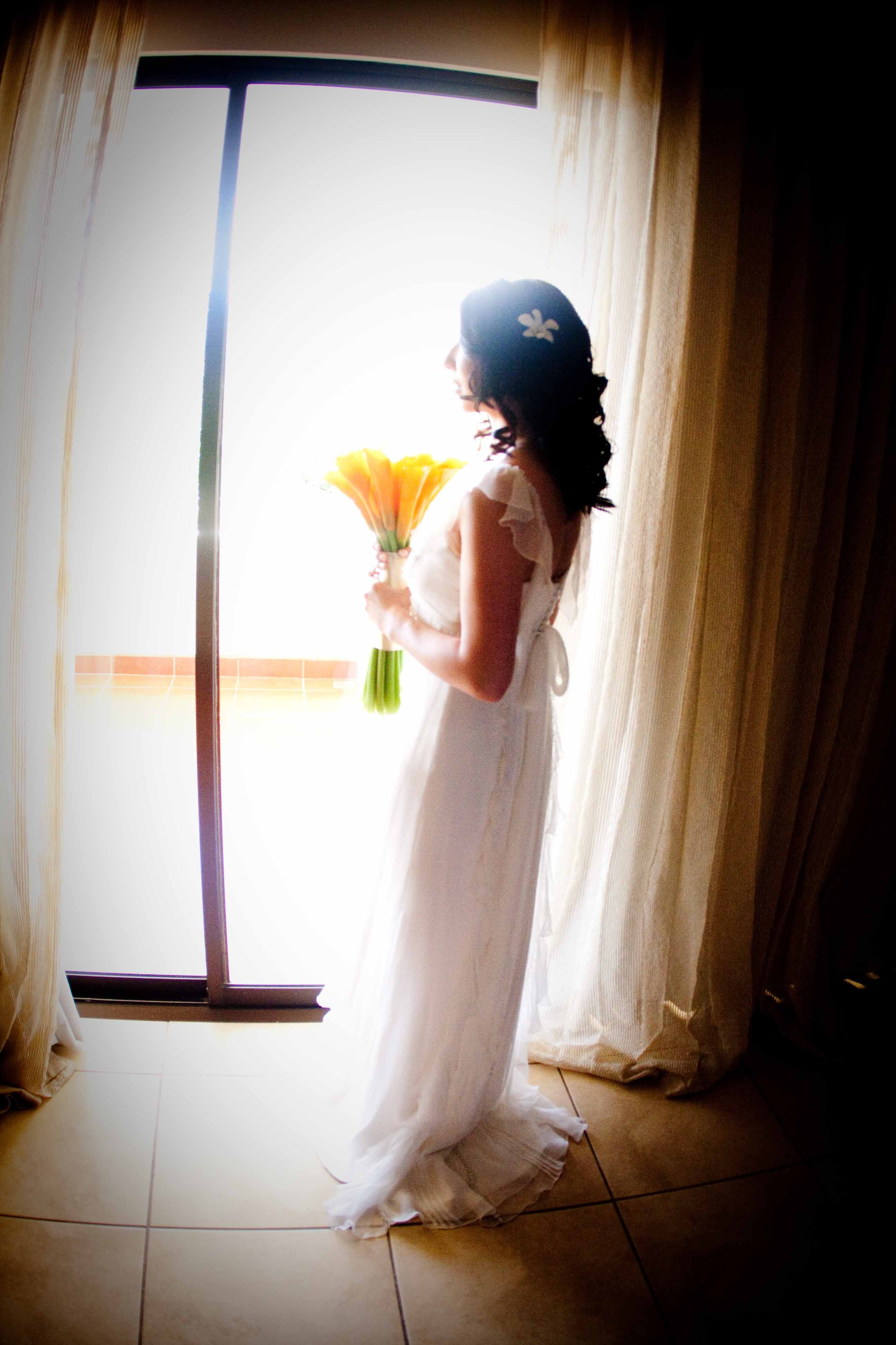 white, orange, Bride, Weddings, Getting, Ready, Beautiful
