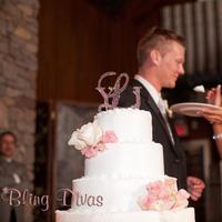 Cakes, cake, Monogrammed Wedding Cakes, Monogram, Crystal, Topper, Bling divas
