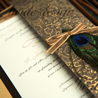 Beauty, Stationery, invitation, Feathers, Invitations, Gate, Fold, Peacock, Feather, Bride design