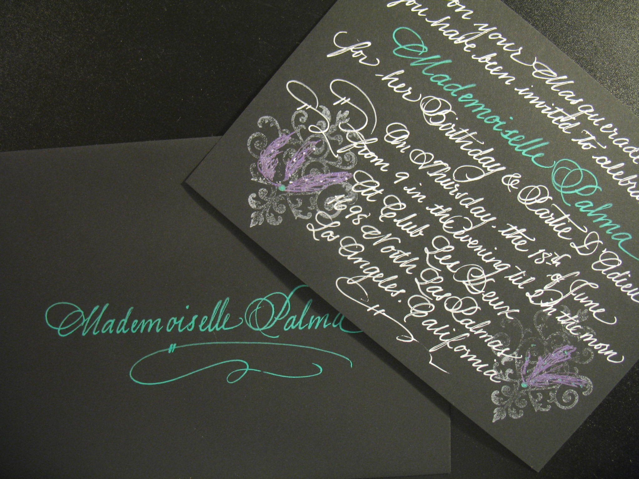 Calligraphy, Stationery, Invitations