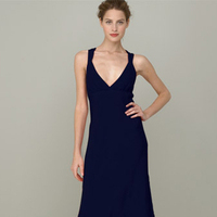 Bridesmaids, Bridesmaids Dresses, Wedding Dresses, Fashion, black, dress, V-neck, V-neck Wedding Dresses, Navy