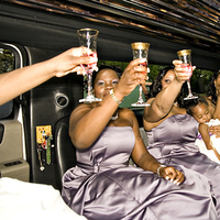 Bridesmaids, Bridesmaids Dresses, Fashion, ivory, purple, Toast, Wedding, Limousine, Champagne, ºfahrenheit nyc photography