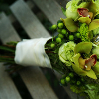 Flowers & Decor, green, Bride Bouquets, Flowers, Bouquet, Bridal, Orchids, Cymbidium