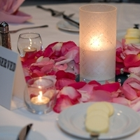 Reception, Flowers & Decor, pink, Centerpieces, Flowers, Centerpiece, Rose petals