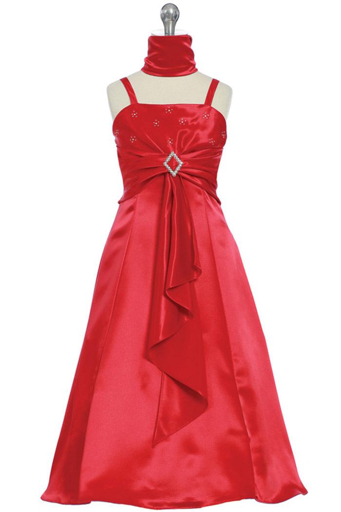 Flowers & Decor, Bridesmaids Dresses, Wedding Dresses, A-line Wedding Dresses, Fashion, dress, Flower, Girl, Bridesmaid, A-line, Satin, Jr, Girlsdresslinecom, Shiny, satin wedding dresses