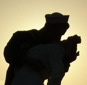 Sunset, Kissing, San, Diego, Nurse, Sailor, Statue