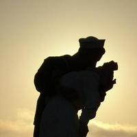 Sunset, Kissing, Navy, Nurse, Sailor, Statue