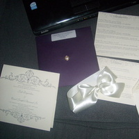 Stationery, ivory, purple, Invitations, Stationary