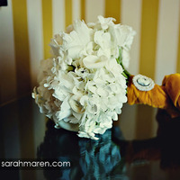 white, yellow, Bouquet, Ribbon, Hydrangea, Peony, Bouquet wrap, Beaded, Velvet, Cameo, Kate miller events