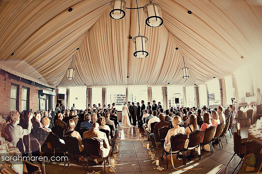 Ceremony, Flowers & Decor, Vintage, Modern, Chic, Rooftop, Tented, Kate miller events, Citizen hotel, The citizen hotel, Mezzanine