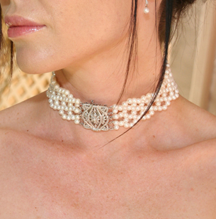 Jewelry, gold, Necklaces, Bridal, Necklace, Diamond, Choker, Pearl, Liza shtromberg jewelry