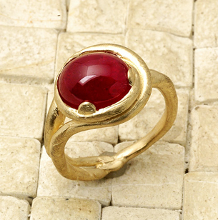 gold, Custom, Ring, Engagement, Handmade, Ruby, Liza shtromberg jewelry