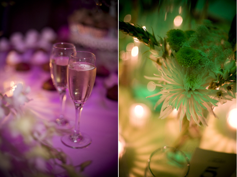 Reception, Flowers & Decor, purple, green, Centerpieces, Candles, Flowers, Centerpiece, Table, Details, Setting, Night, Fino photography