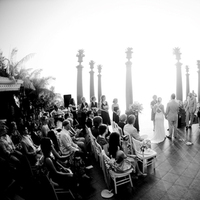 Ceremony, Flowers & Decor, white, black, And, Ocean, View, Fino photography