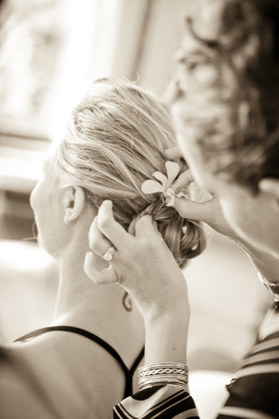 orange, Bride, Getting, Ready, Sepia, Fino photography
