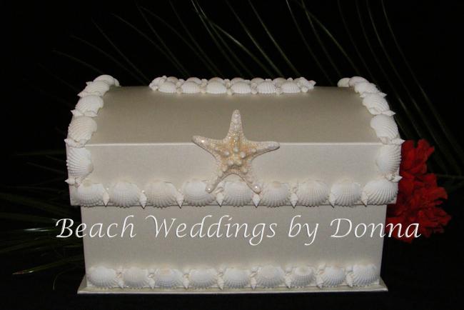Seashell Wedding Card Boxvendors Beach Weddings by Donna Project – Beach Wedding Card Boxes