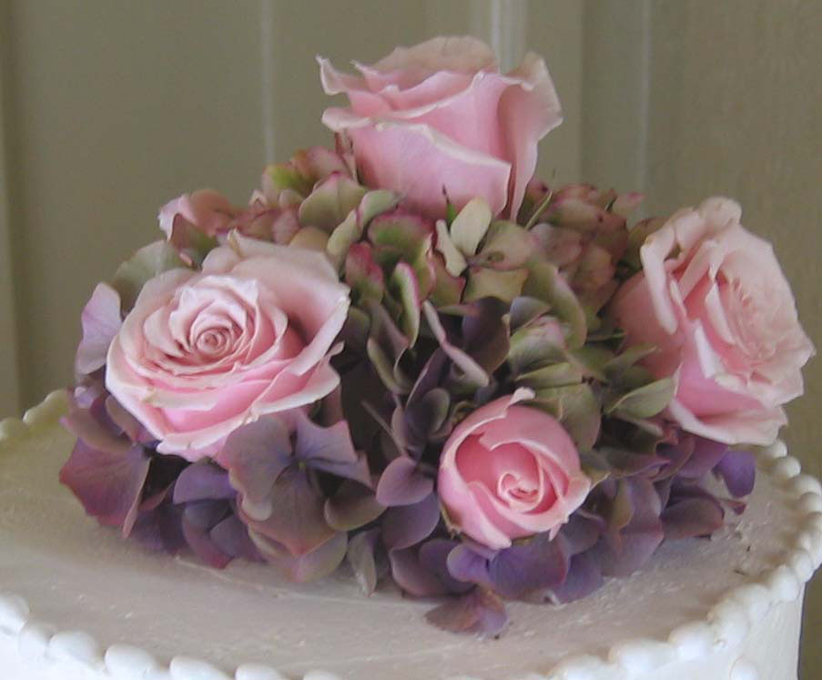 Flowers & Decor, Cakes, pink, cake, Flowers, Roses, Cake topper, Hydrangea, An impressive event