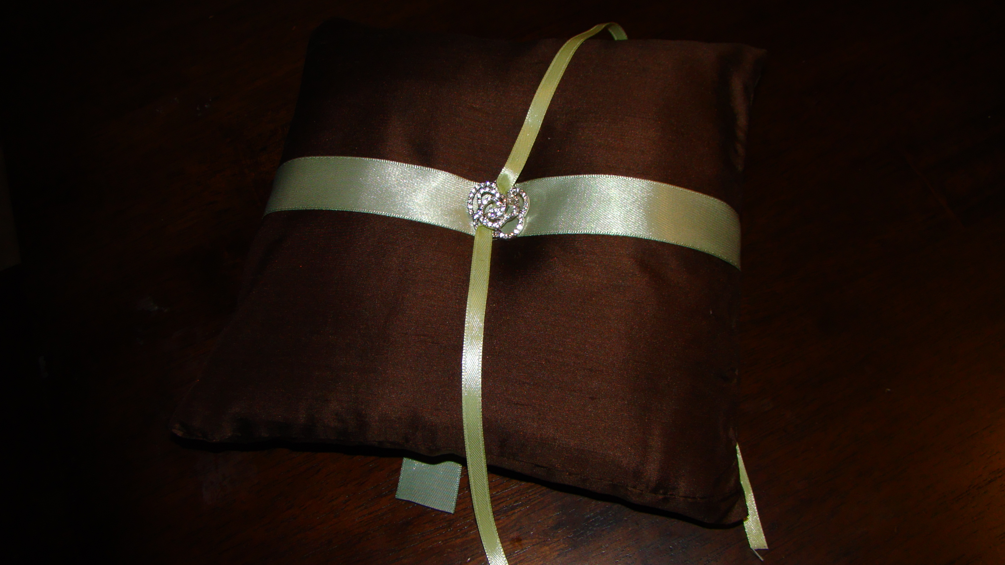 DIY, green, brown, Ring, Pillow