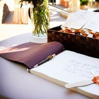 orange, Programs, Guest book, Custom weddings of colorado, Program fans
