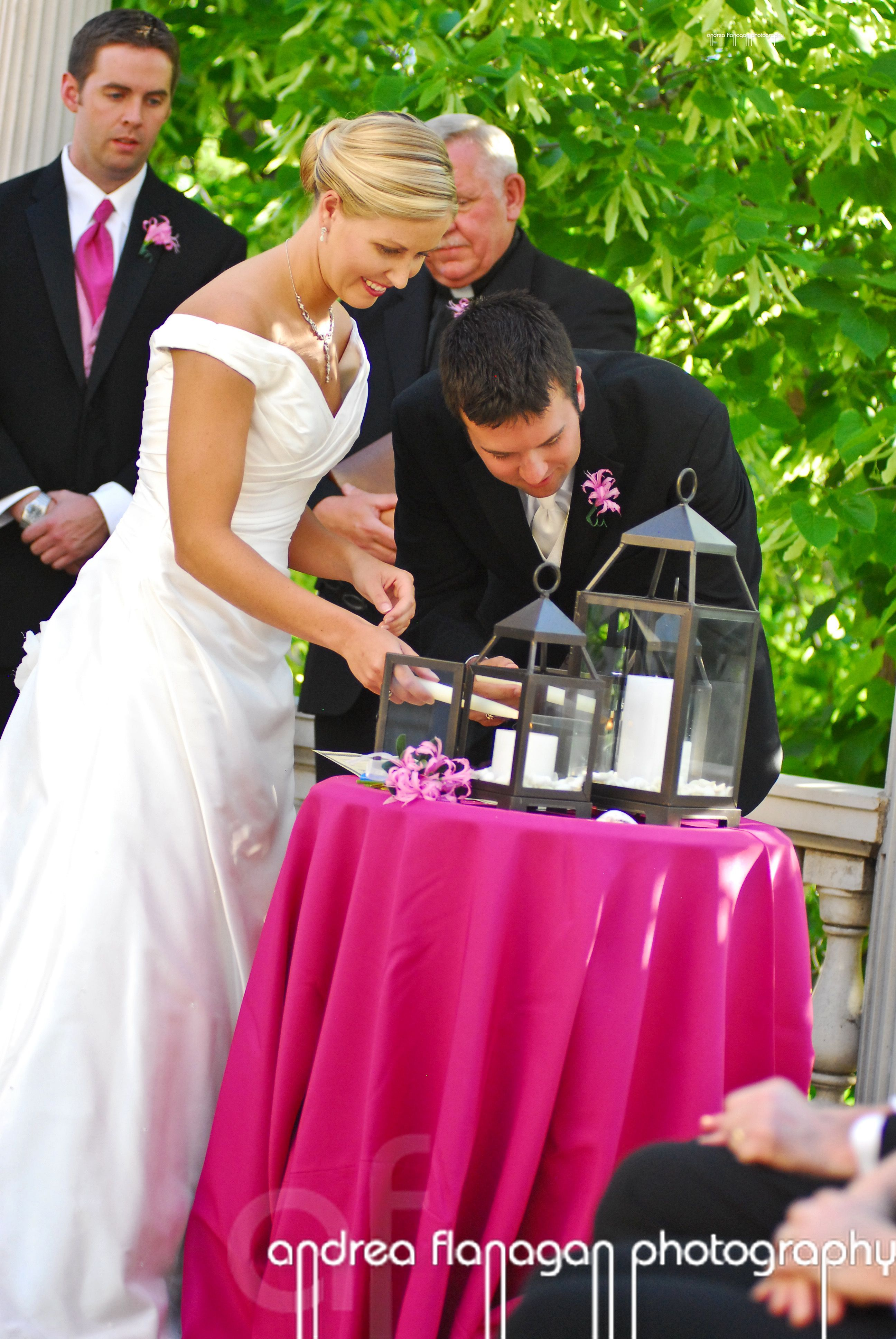 pink, Candle, Unity candle, Unity, Pink wedding, Custom weddings of colorado, Mansion wedding, Denver wedding