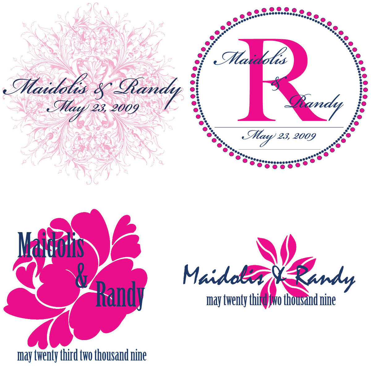 Monograms, Divine designs llc, Pink and blue monogram, Hot pink and navy