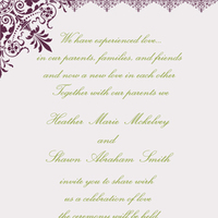 Stationery, purple, green, invitation, Invitations, Save the date, And, Damask, Fancy, Divine designs llc