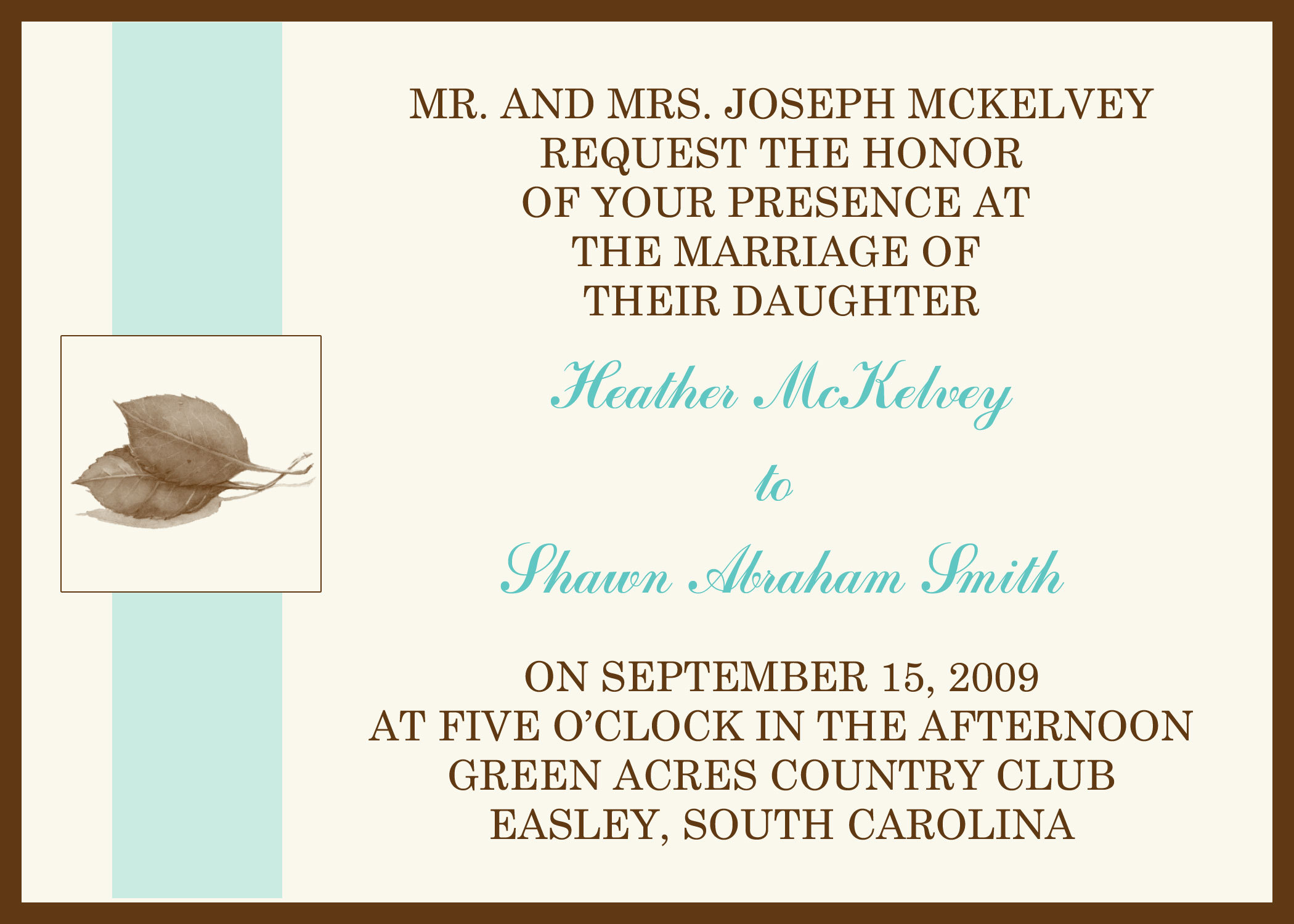 Stationery, brown, invitation, Fall, Invitations, And, Aqua, Stationary, Leaves, Seasonal, Divine designs llc