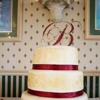 Cakes, cake, Monogrammed Wedding Cakes, Monogram, Topper