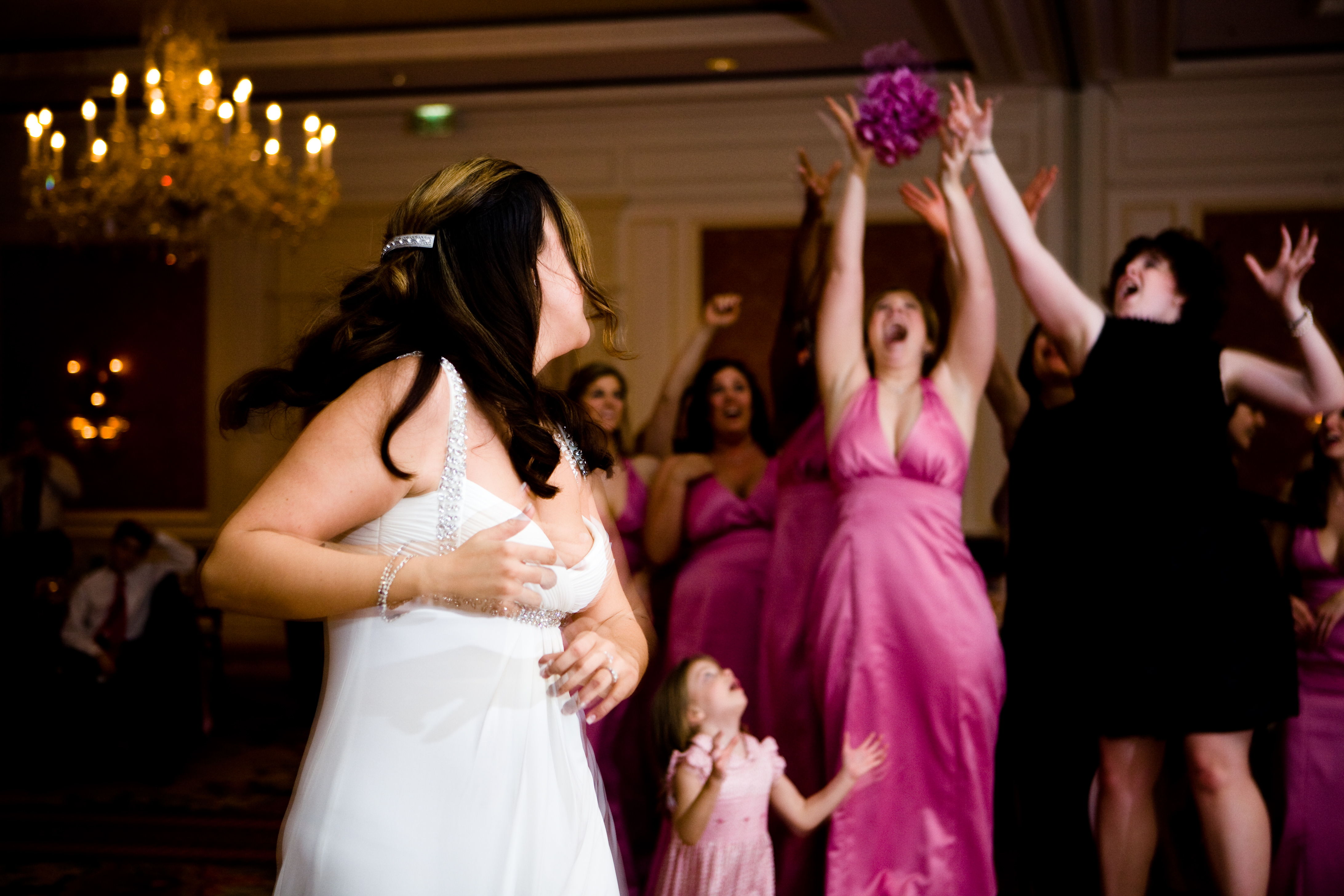 Reception, Flowers & Decor, pink, Bouquet toss