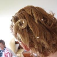 Beauty, white, Bride, Hair, Pearls