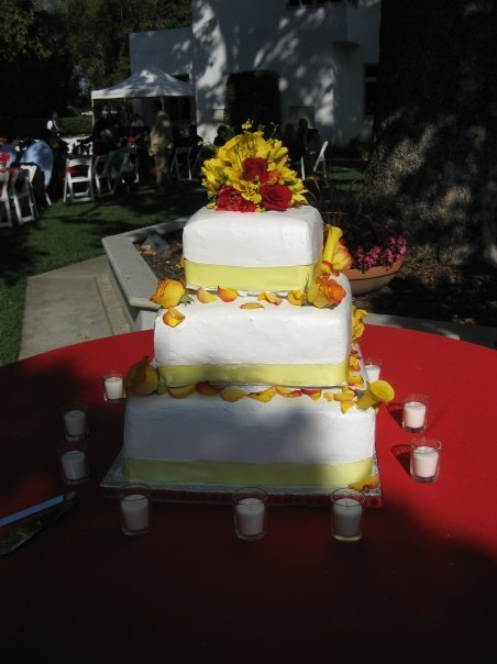 Cakes, yellow, orange, red, cake