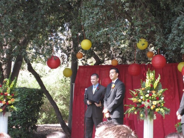 Ceremony, Flowers & Decor, yellow, orange, red