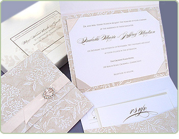 Stationery, invitation, Invitations, Wedding, Custom, Couture, Embellished