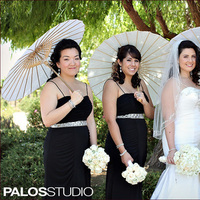 Bridesmaids, Bridesmaids Dresses, Fashion, white, black, Bouquet, Parasol, Wwwreflectionseventdesigncom
