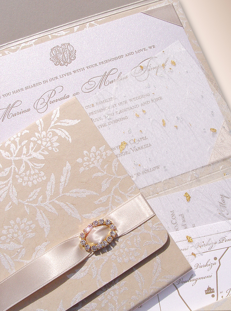 Stationery, Invitations, Wedding, Custom, Couture, Letterpress, Luxurious, Carciofi design